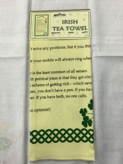Liffey Artefacts Irish Tea Towels - Murphys Irish Law